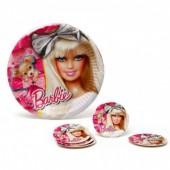 Conjunto Pratos Barbie 23 cm