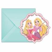 Convites festa Princesas 6 unid