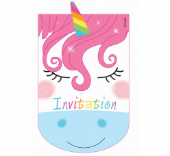 Convites Unicórnio 6 unid