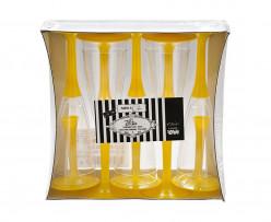 Copos Flute Champanhe Amarelo 10und