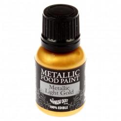 Corante Liquido Metalizado Ouro Claro 25ml Rainbow