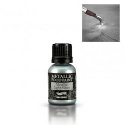 Corante Liquido Metalizado Prata claro 25 ml Rainbow