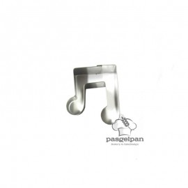 Cortador de bolacha Nota Musical Dupla Mini
