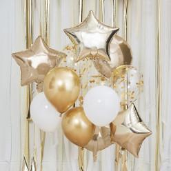 Decoração Balões Dourados