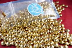 Decoração Bolinhas Ouro Vintage 100g
