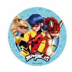 Decoração Bolo Ladybug, Fox Rouge e Queen Bee