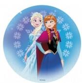 Decoração de bolo de Aniversário Frozen Sisters