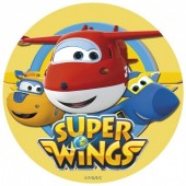 Decoração de bolo obreia de Aniversário Super Wings