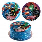 Decoração de bolo obreia de Aniversário Superman- Batman