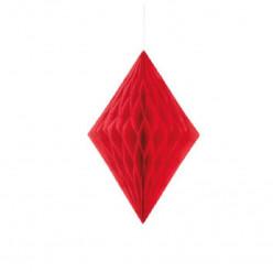Decoração de papel 14 polegadas vermelho