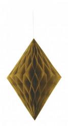 Decoração de Papel Diamante 14 polegadas Dourado