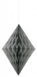 Decoração de Papel Diamante 14 polegadas prateado