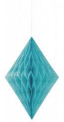 Decoração de Papel Diamante14 polegadas Azul Caribe