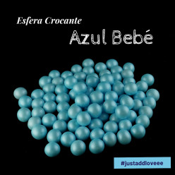 Decoração Esfera Crocante Azul Bebé 100g