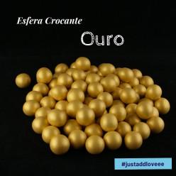 Decoração Esfera Crocante Ouro 100g