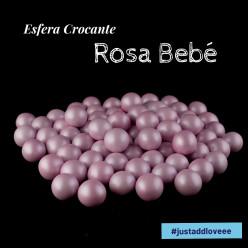 Decoração Esfera Crocante Rosa Bebé 100g