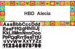 Decoração Festas Emojis com autocolantes