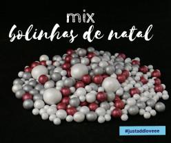 Decoração Mix Bolinhas de Natal 150g