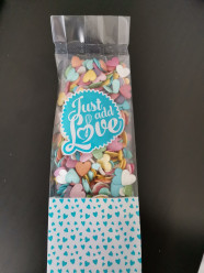 Decoração Mix Corações Coloridos 100gr