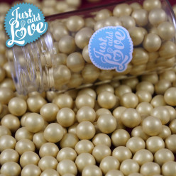 Decoração Pérolas Chocolate Ouro 65g