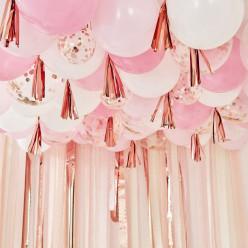 Decoração Teto Balões Rosa