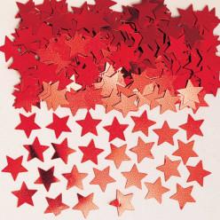 Emb Confettis Metálicos Estrelas Vermelhas