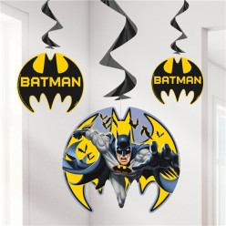 Espirais Decorativas Batman 3 unid