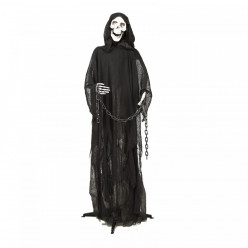 Esqueleto da morte com luz som e movimento 166cm halloween