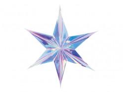 Estrela Foil Iridescente Decoração