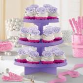 Expositor Bolos  Cupcake Violeta - 29cm