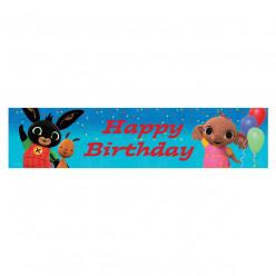 Faixa Banner Foil Happy Birthday Coelhinho Bing