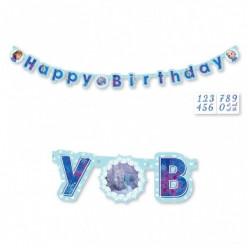 Faixa Personalizável Happy Birthday Frozen 1,8m