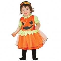 Fato abobora bebé menina halloween