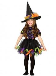 Fato Bruxa Colorida halloween