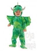 Fato Carnaval dinossauro green bebé