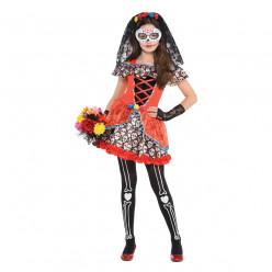 Fato Catrina Dia dos Mortos halloween