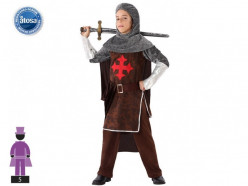 Fato Cavaleiro Cruzadas Menino