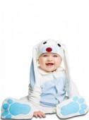 Fato Coelho orelhas azuis para bebé