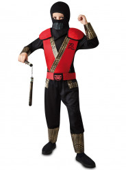Fato de Ninja Combate vermelho