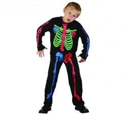 Fato Esqueleto Menino halloween