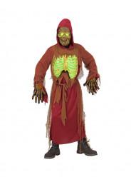 Fato Esqueleto Zombie Luminoso