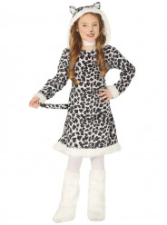 Fato Leopardo Branco Menina