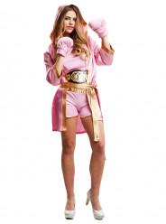 Fato Lutadora Boxe Mulher Adulto