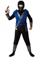 Fato Ninja combate azul
