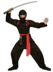Fato Ninja musculoso para menino