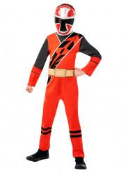 Fato Power Ranger Vermelho Ninja Steel