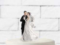 Figura Bolo Casamento Noivos a Dançar 11cm