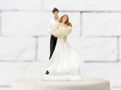 Figura Bolo Casamento Noivos c/Bebé 14.5cm