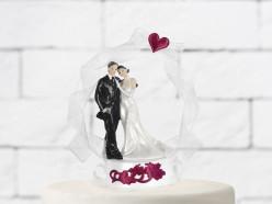 Figura Bolo Casamento Noivos Cetim 16cm