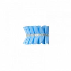 Fita Plissada Bolos azul 10 mts